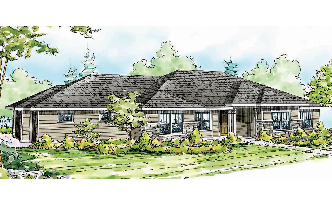 Prairie style house plans fall creek 30 755 associated for Prairie style house plans