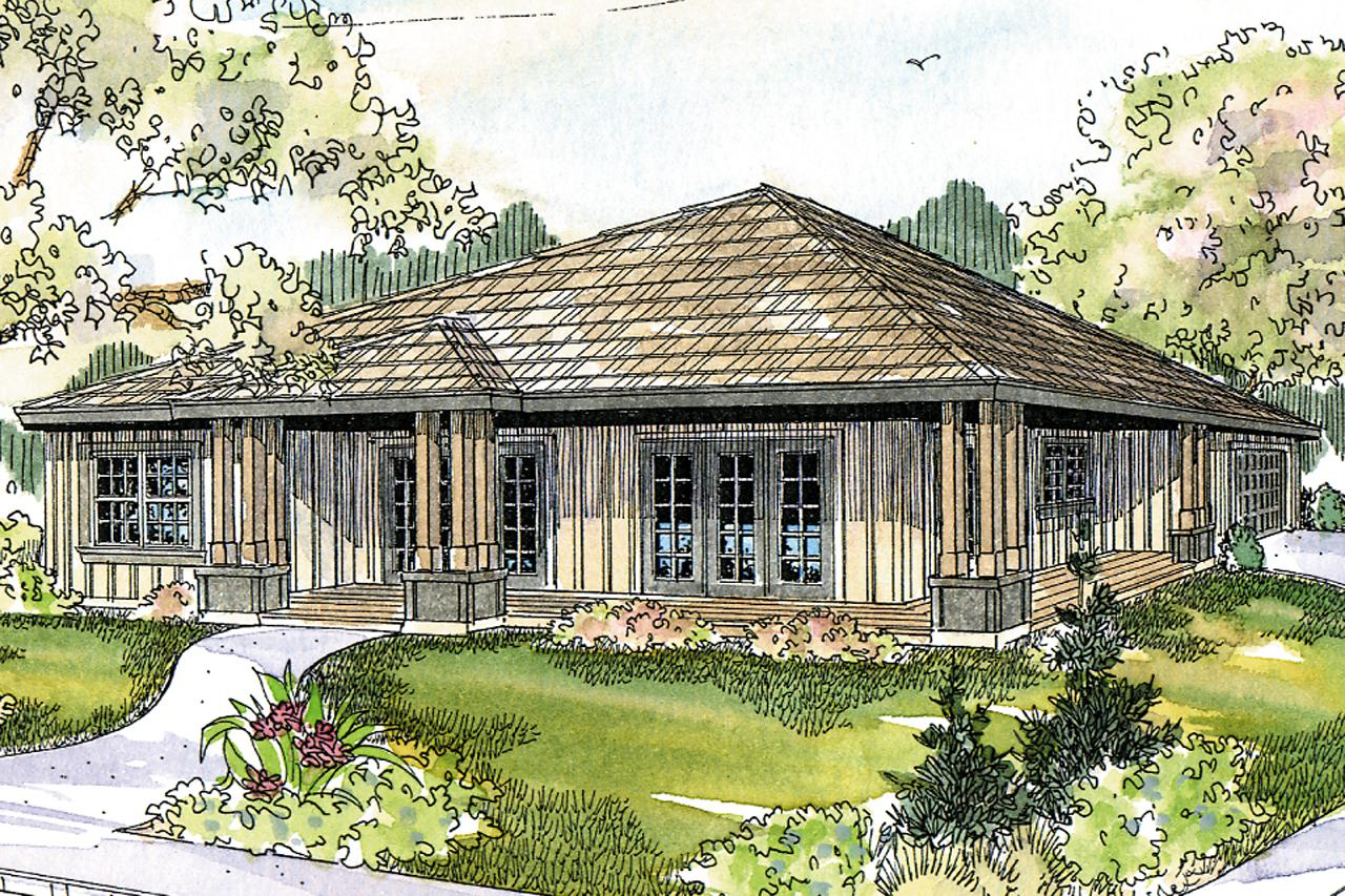26 delightful prairie style home designs house plans 21845 for Prairie style home designs