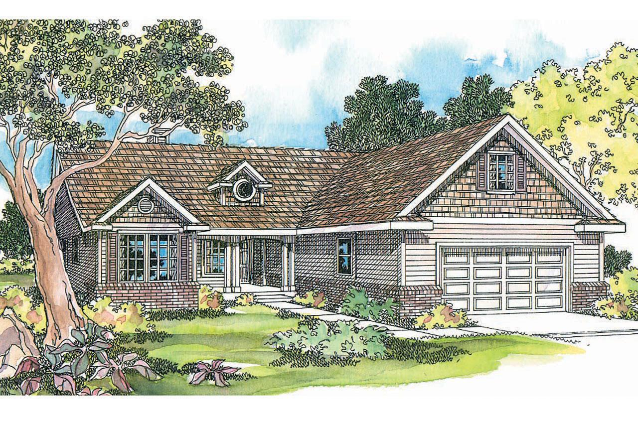 Front Elevation Ranch : Ranch house plans chesapeake associated designs