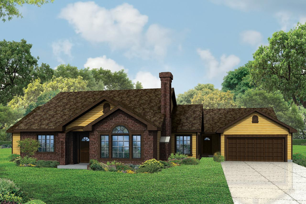 Front Elevation Ranch : Ranch house plans darrington associated designs