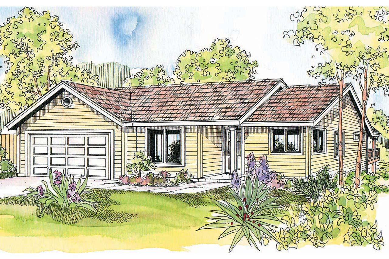 Ranch house plans dexter 30 547 associated designs for Ranch house elevations