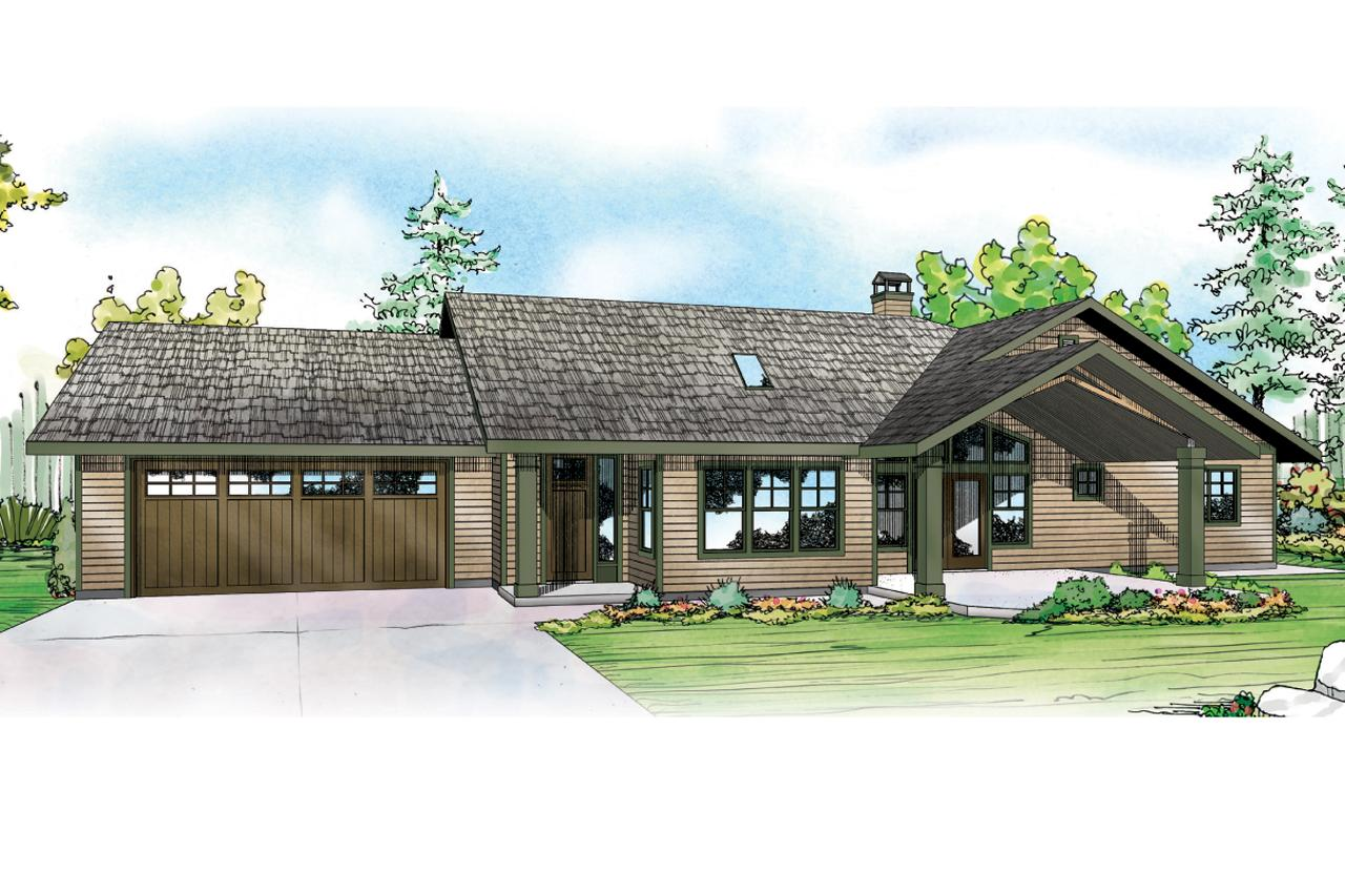 Ranch house plans elk lake 30 849 associated designs for Lake front house plans
