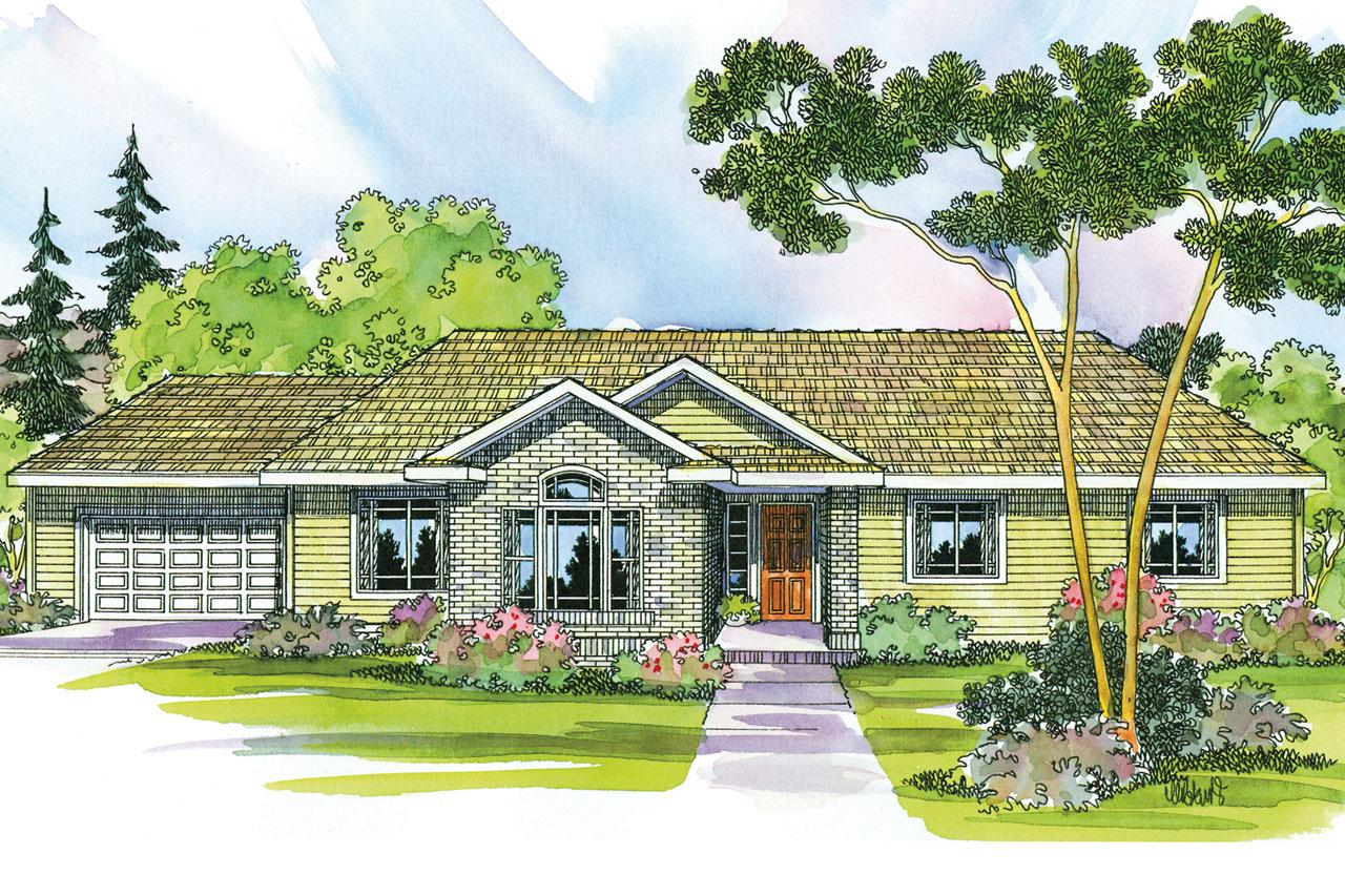 Front Elevation Ranch : Ranch house plans elliot associated designs