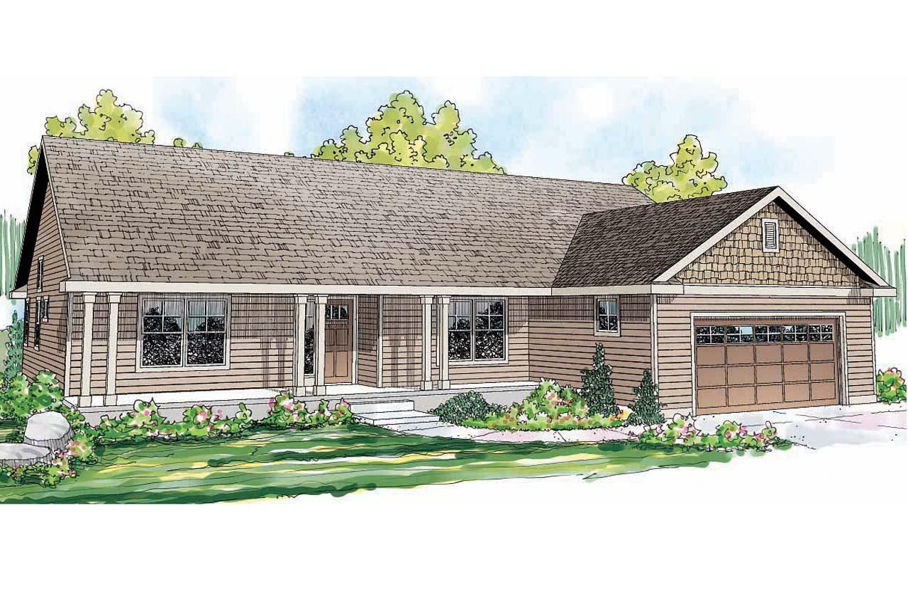 Front View Elevation Of House Plans : Ranch house plans fern view associated designs
