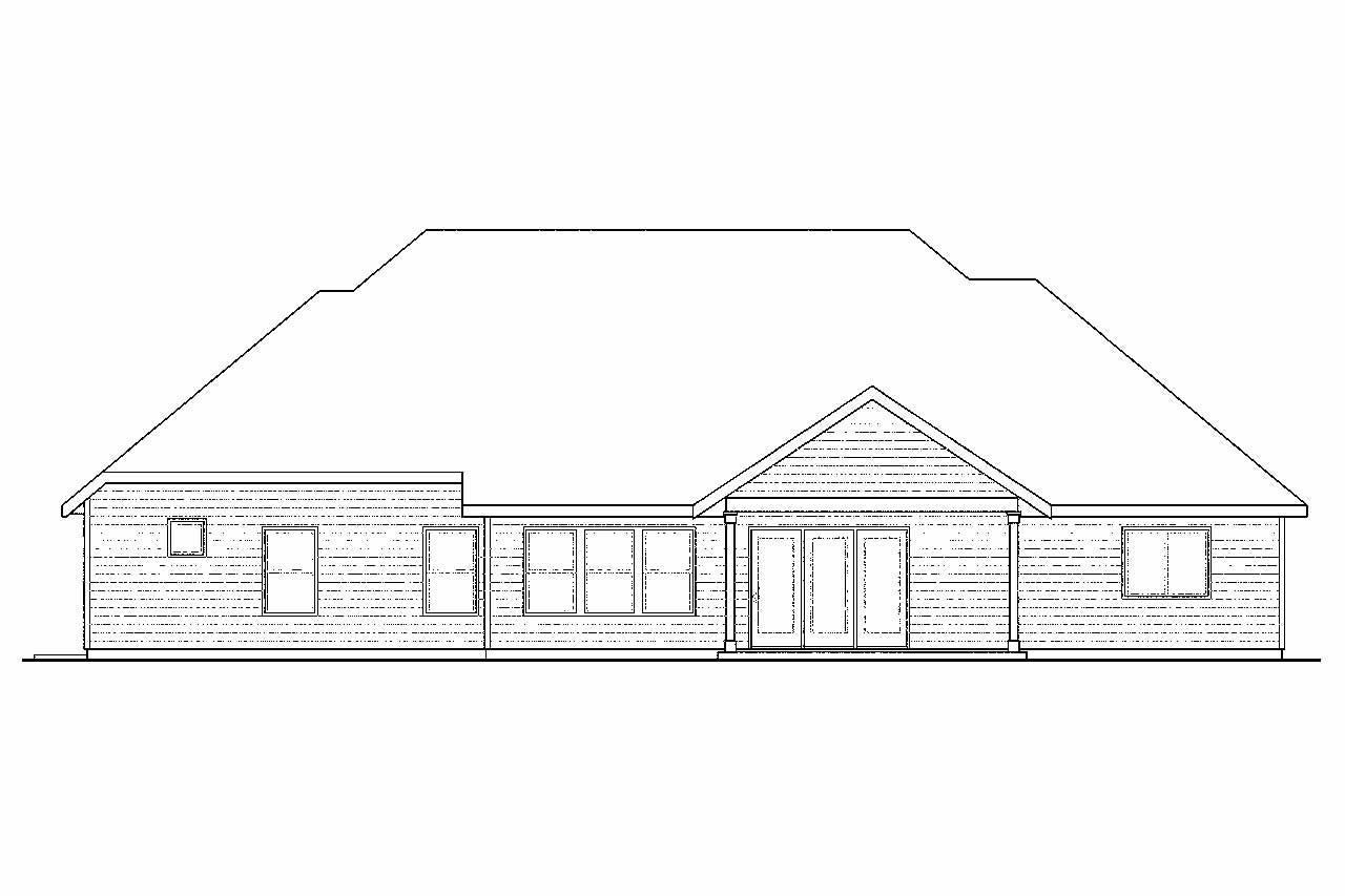 Cottage house plans gladstone 30 786 associated designs for What is rear elevation