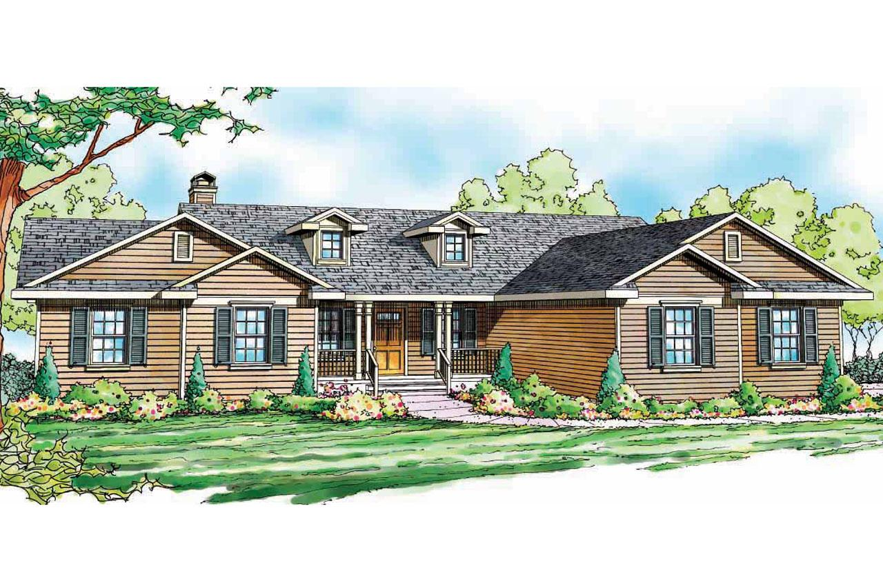 Ranch house plans heartville 10 560 associated designs for Ranch house elevations