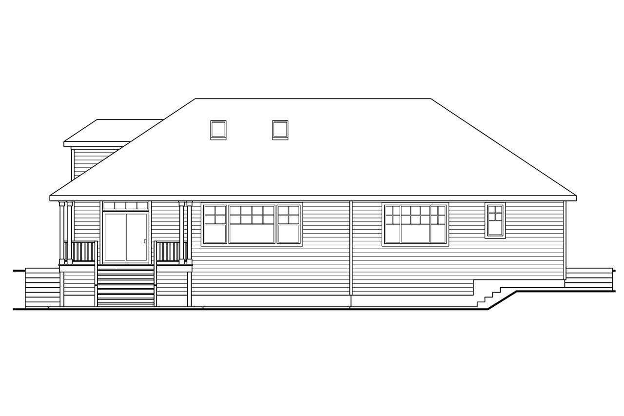 Rear Elevation Plan : European house plans stonechase associated designs