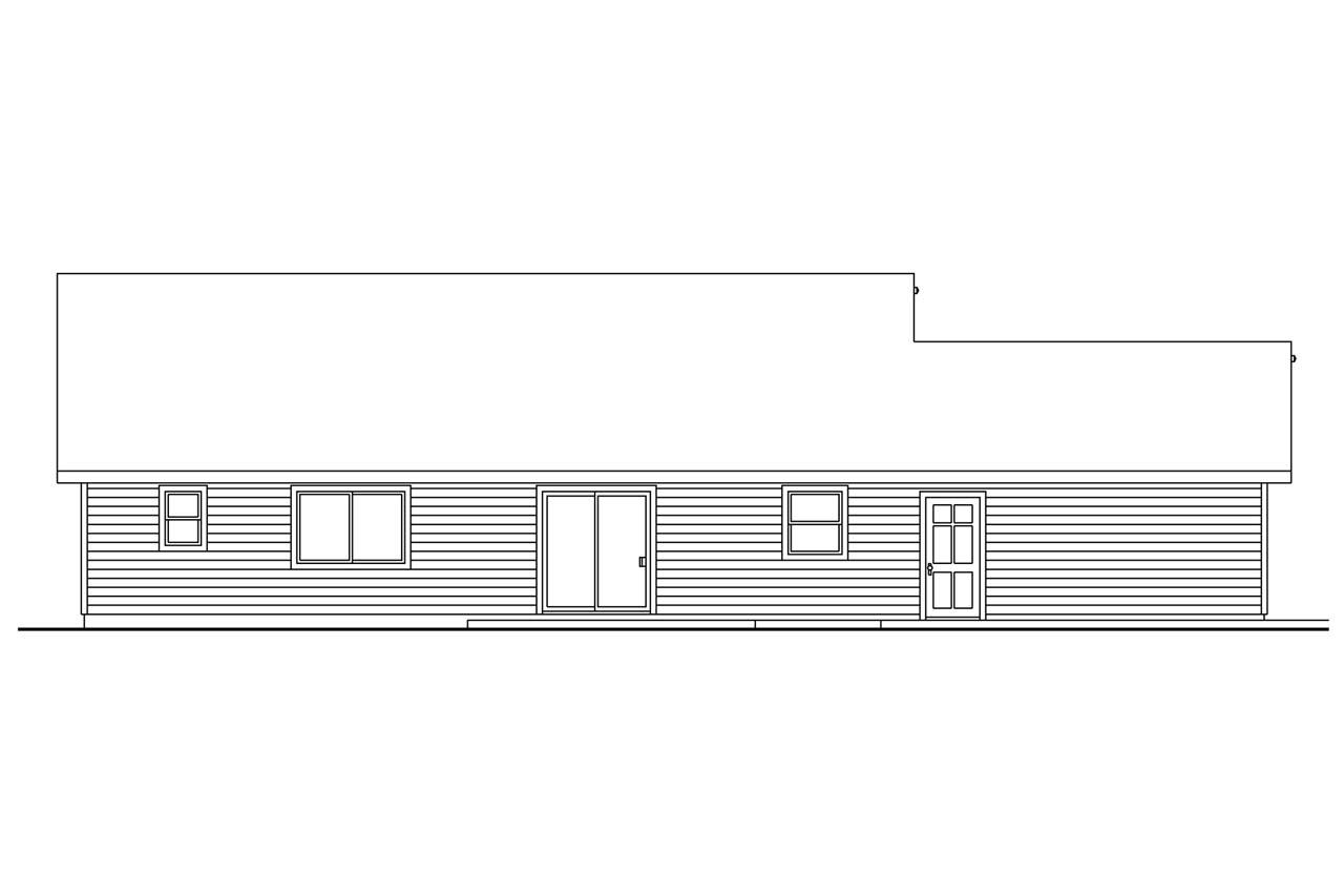 Bungalow house plans strathmore 30 638 associated designs for What is rear elevation