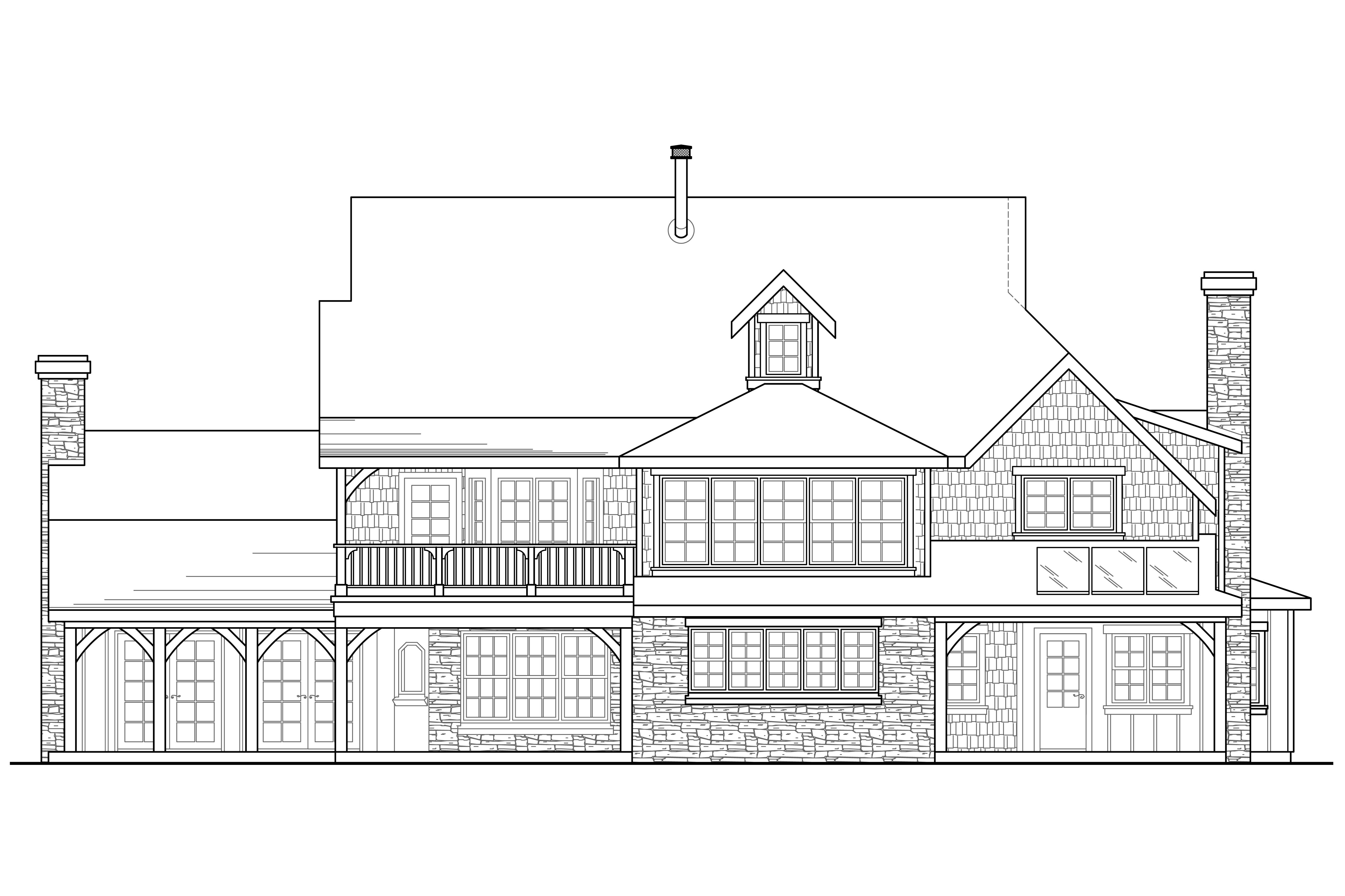 European house plans petersfield 30 542 associated designs for What is rear elevation