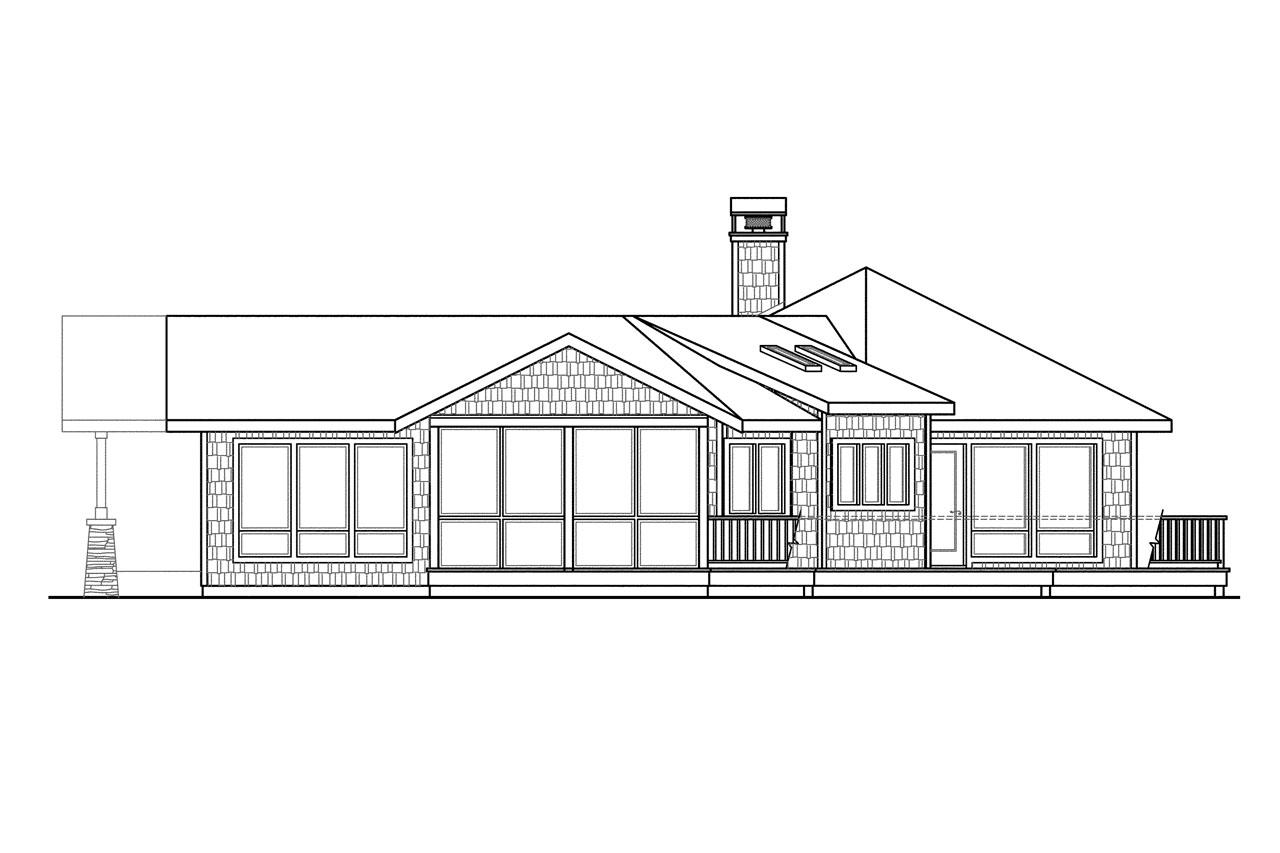 Lodge style house plans sandpoint 10 565 associated for Shingle house plans