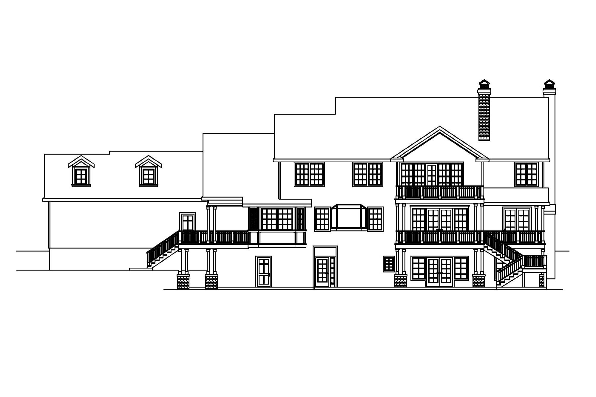 House Plans For Sloping Lots In The Rear Bungalow House