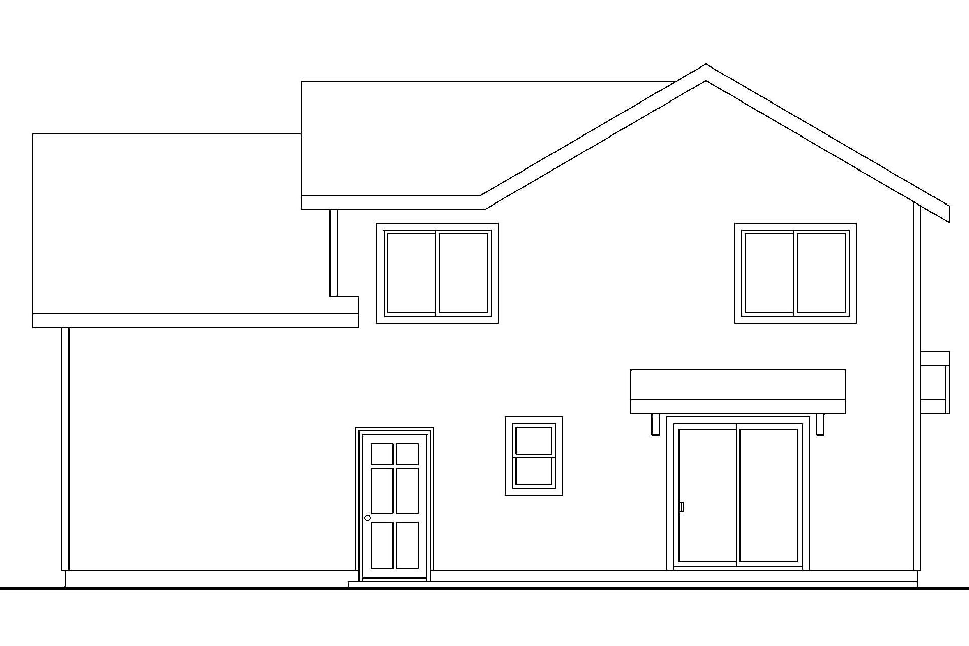 Elevation Plan Template : Craftsman house plans calhoun associated designs