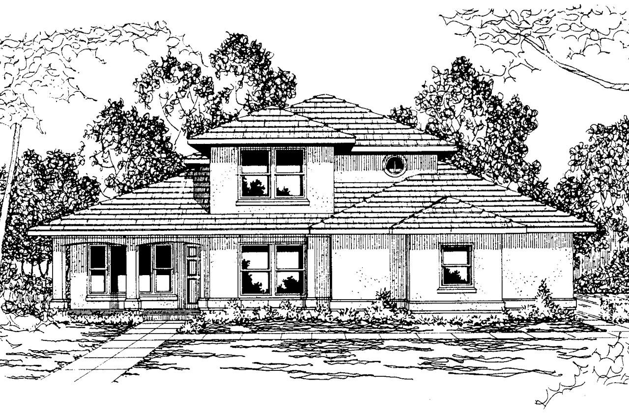 Southwest House Plans - Augusta 30-082 - Associated Designs
