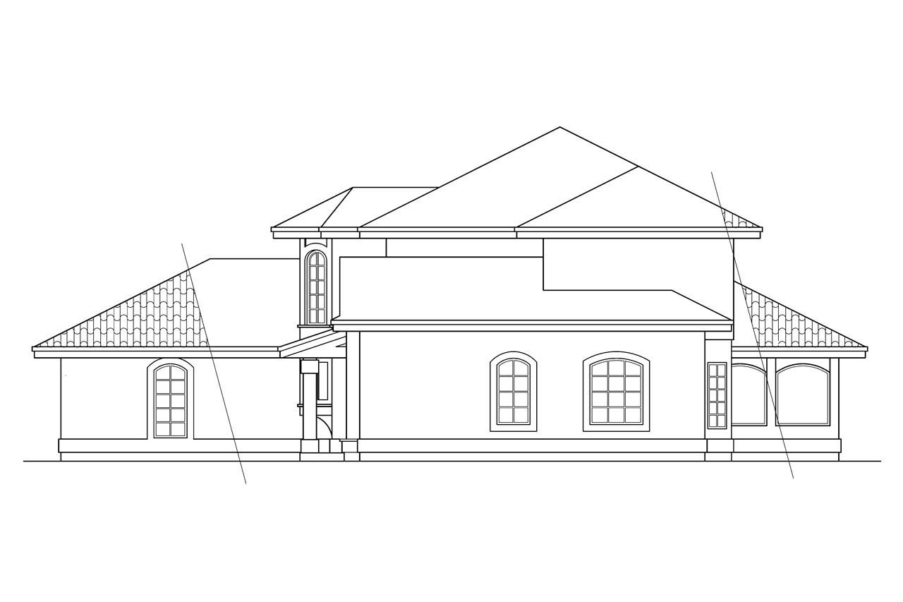 Spanish Style House Plans - Villa Real 11-067 - Associated Designs