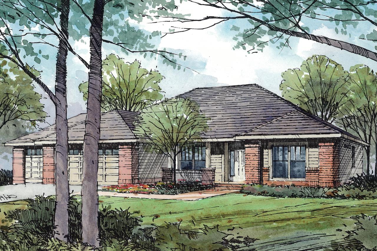 Traditional House Front Elevation : Traditional house plans ambrose associated designs