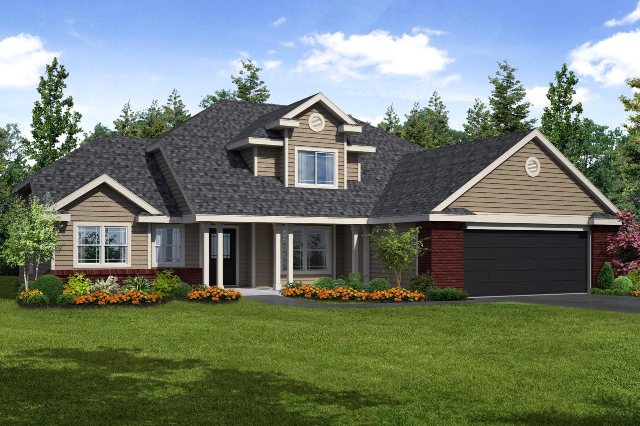 Traditional House Front Elevation : Traditional house plans chivington associated