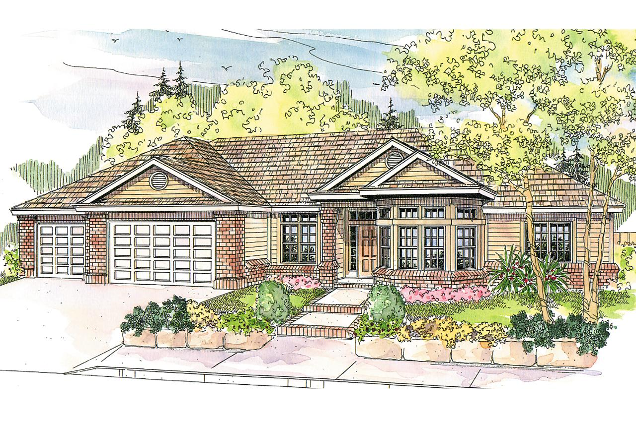 Traditional House Front Elevation : Traditional house plans hollyview associated
