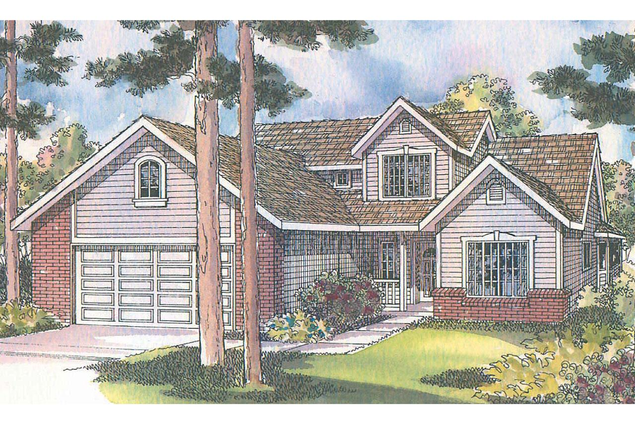 Traditional House Front Elevation : Traditional house plans jasper associated designs