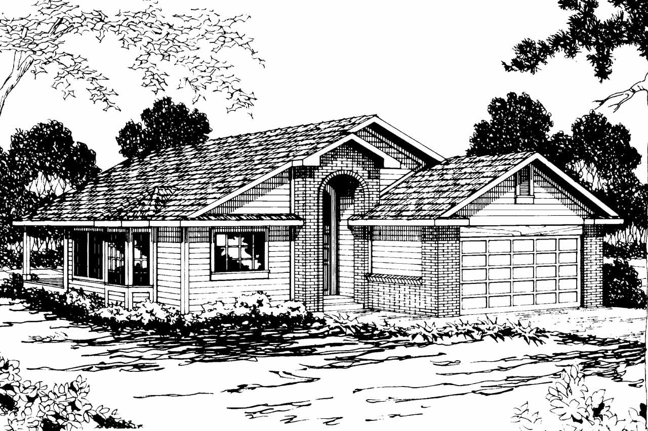 Traditional House Front Elevation : Traditional house plans marshall associated designs