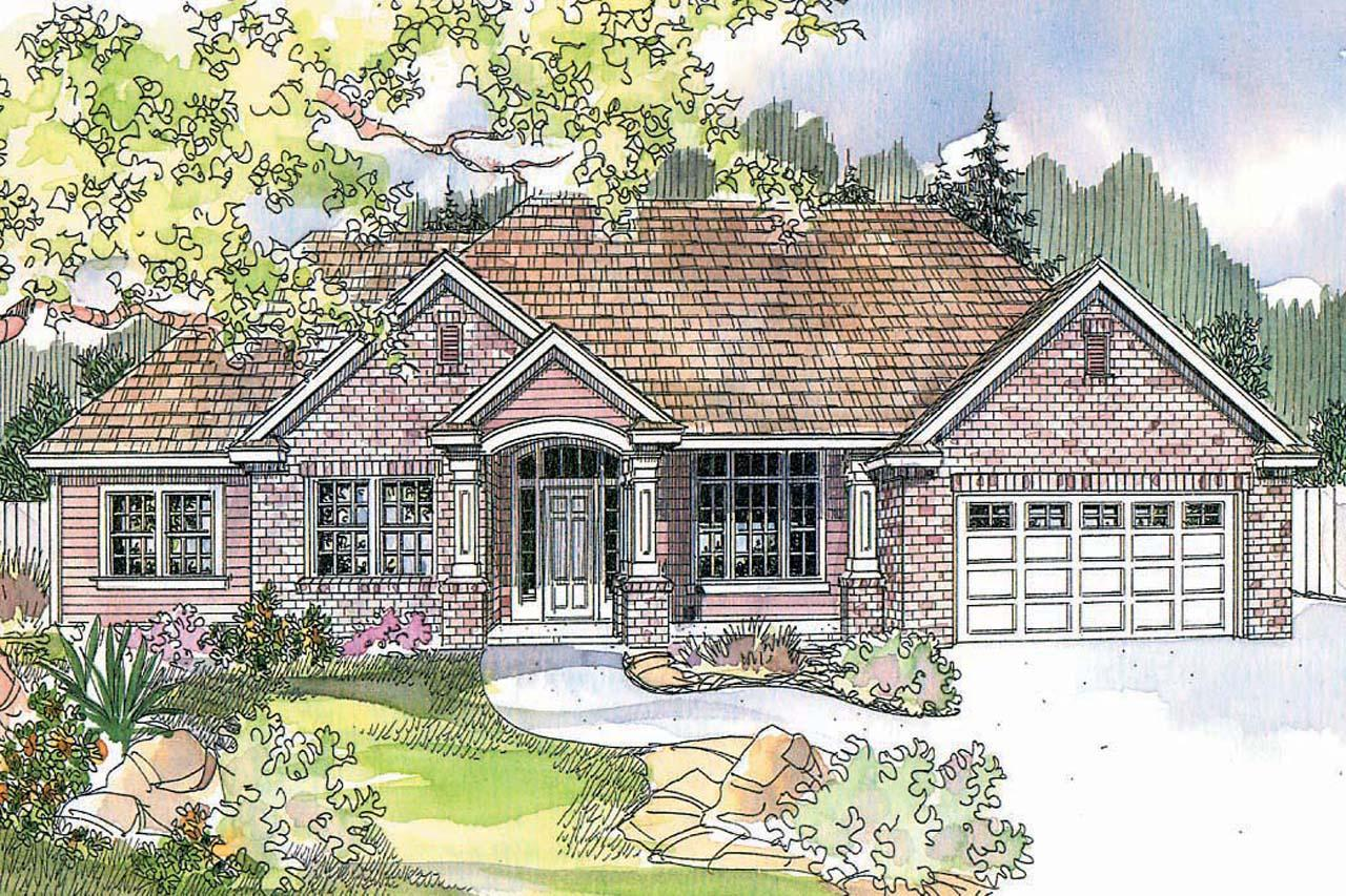 Traditional House Front Elevation : Traditional house plans parkcrest associated
