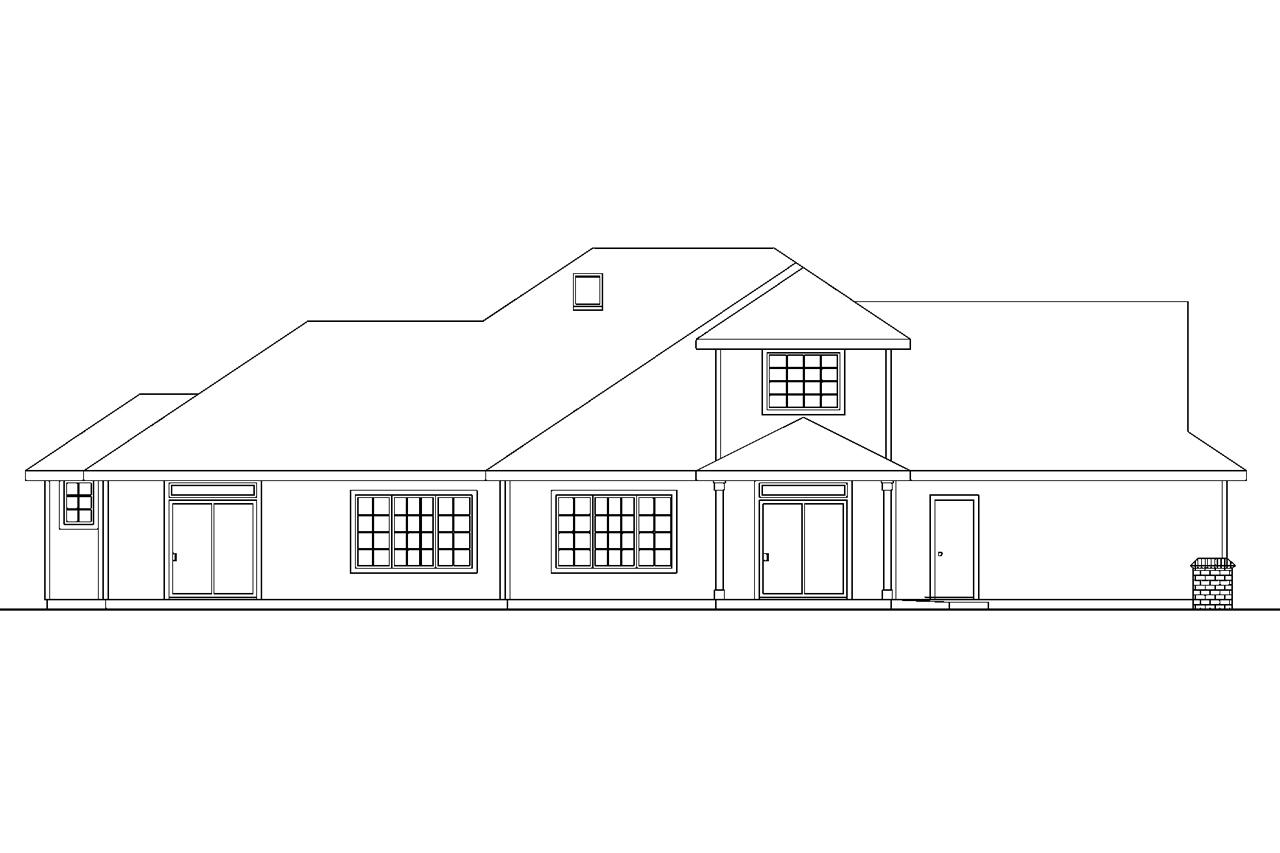Front view house plans escortsea House plans for rear view lots