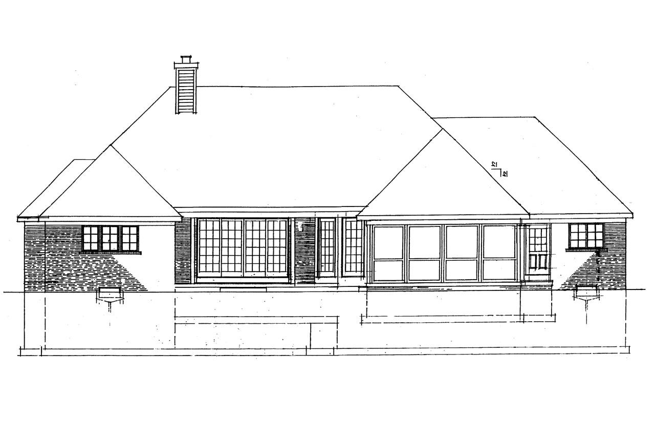 House plans rear view lot home design and style for Home plans with a view to the rear