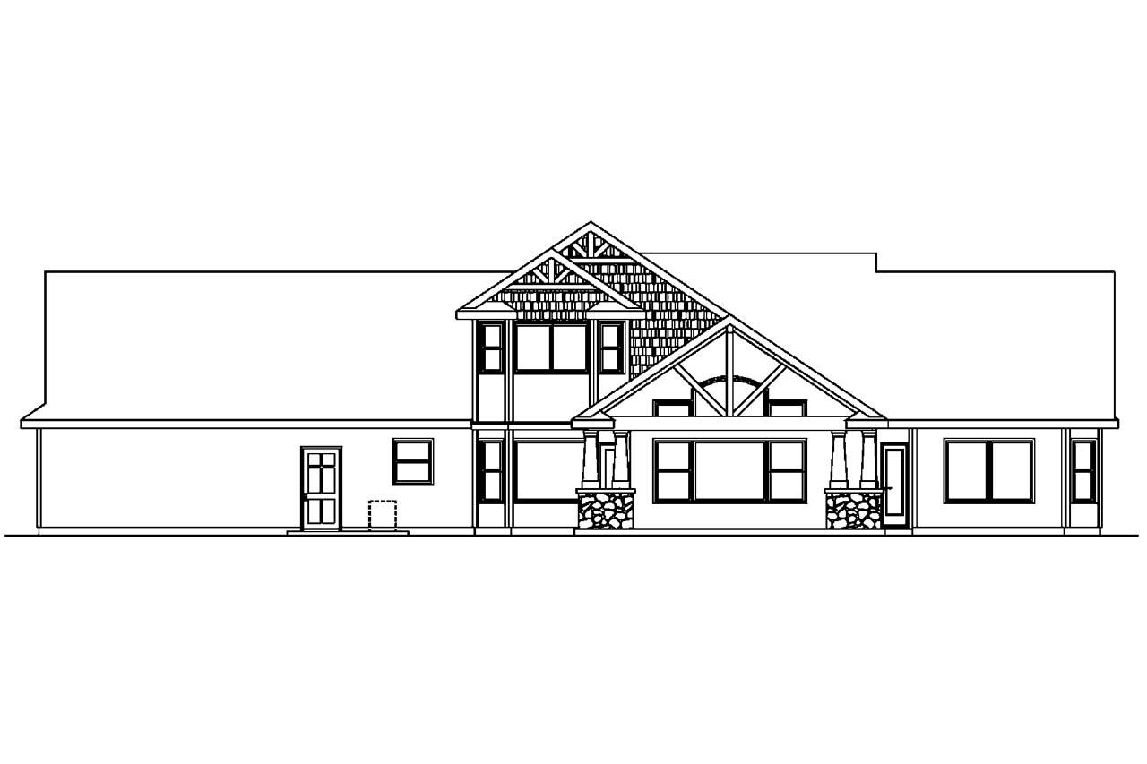 Craftsman house plans montego 30 612 associated designs for House plans for rear view lots