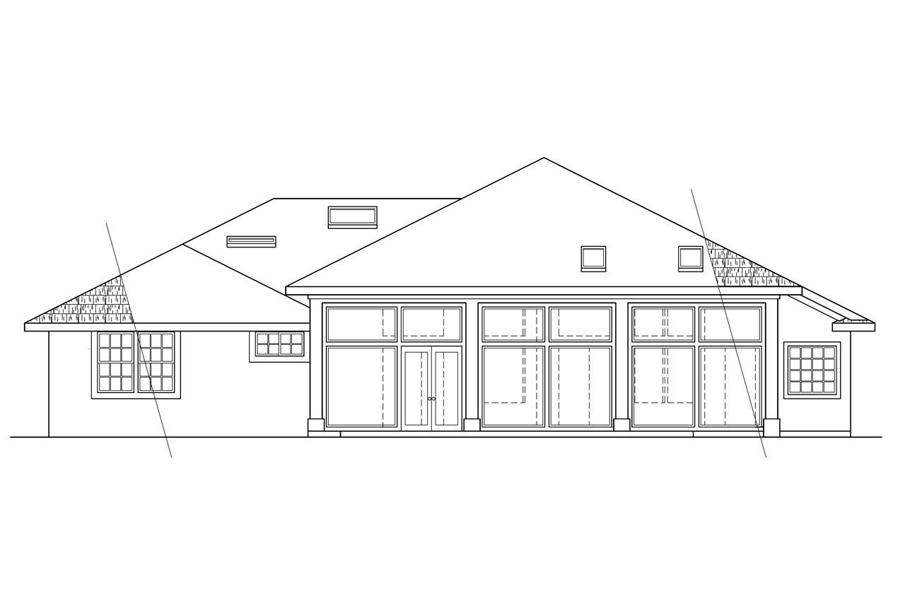House plans for rear view lots view lot house plans house for House plans for view lots