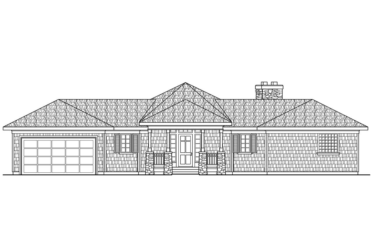 Front View Elevation Of House Plans : Craftsman house plans vista associated designs