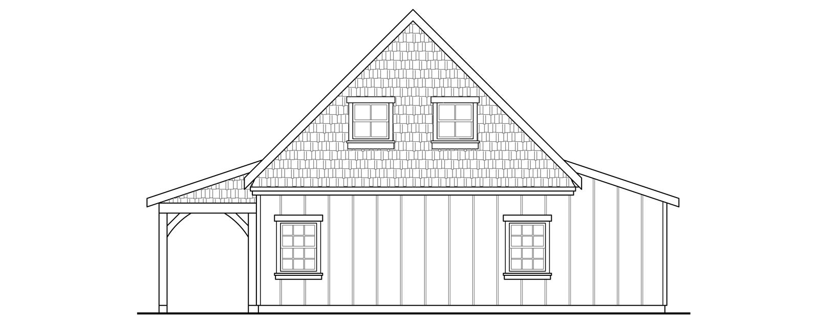 Plan w many windows facing the picturesque yard hills it for 30x36 garage plans