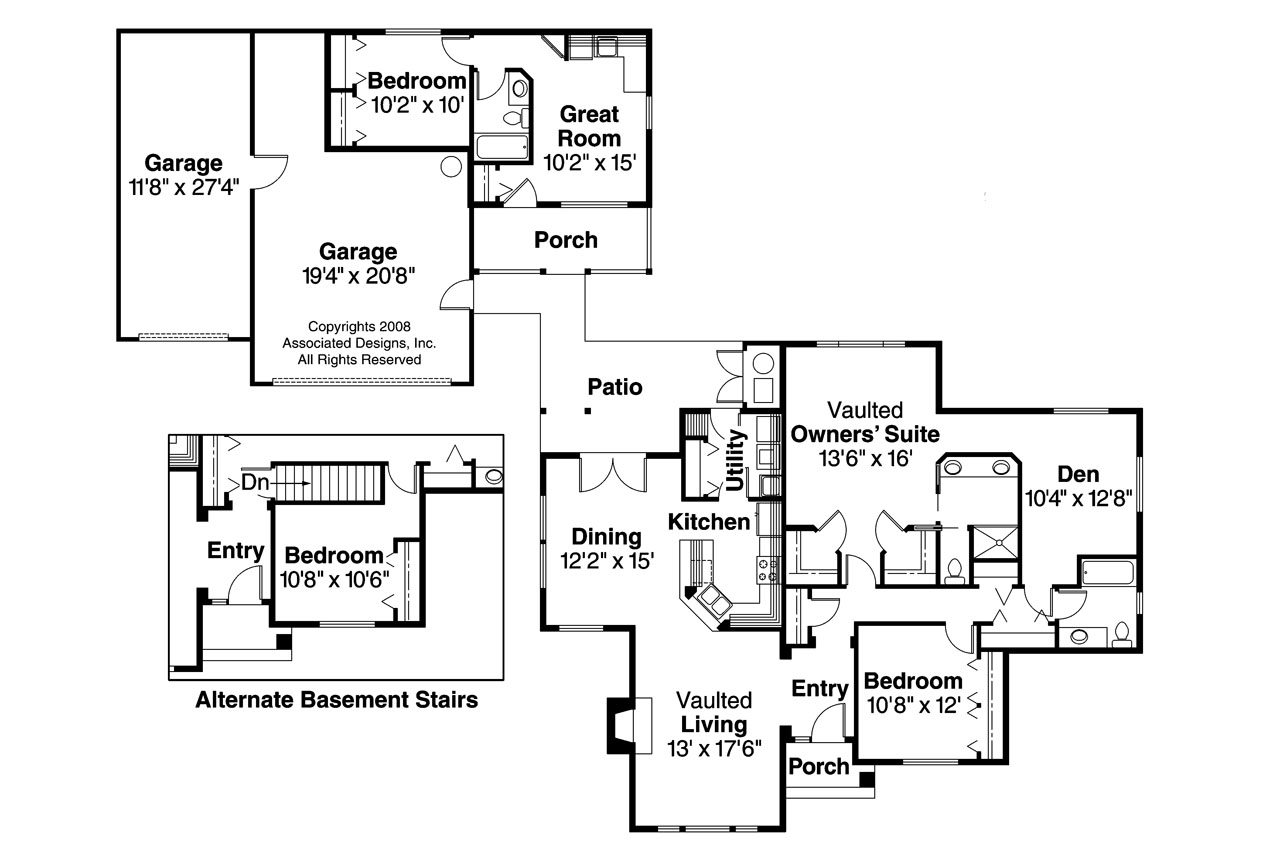 Granny flats gaining popularity for family homes for House plans with detached guest suite
