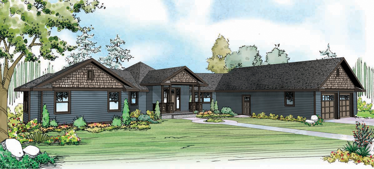 Mountain View 10-558, Country House Plans, Hexagonal Home Plan