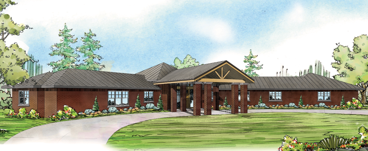 Georgetown 10-576, Hexagonal House Plan, Contemporary Home Plans