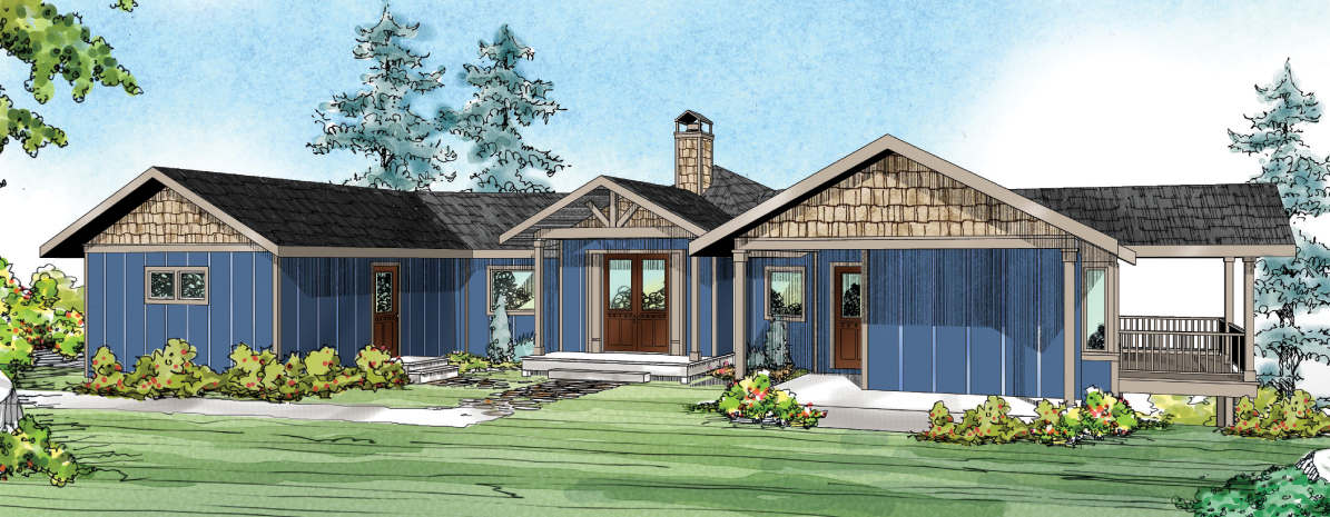 Edgewater 10-578, Hexagonal House Plan, Prairie Home Plan