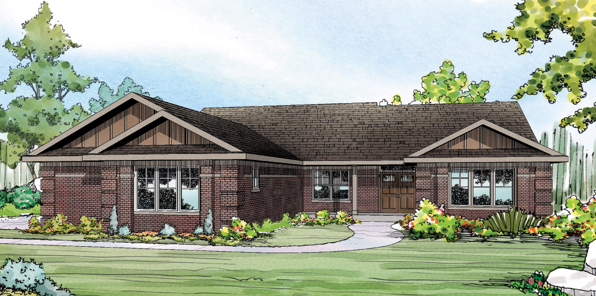 Bakersfield 10-582, Ranch Home Plan, House Plan
