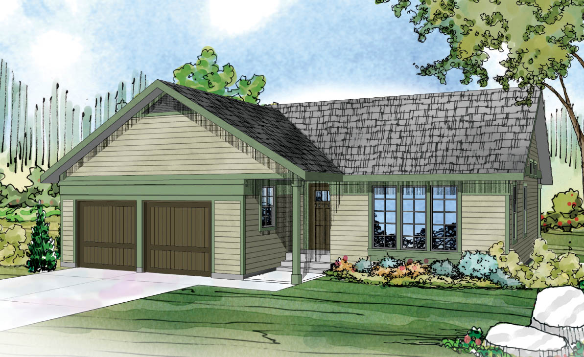 Kenton 10-587, Compact Home, Ranch House Plan