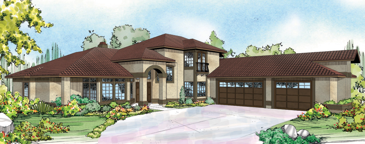 Pasadena 11-140, Mediterranean Home Plan, New House Plan