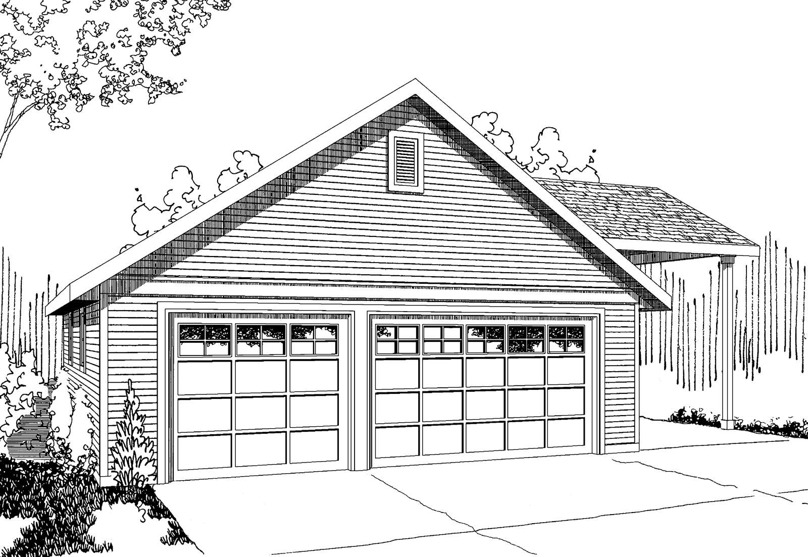 Garage with RV Parking 20-064, Garage Plans