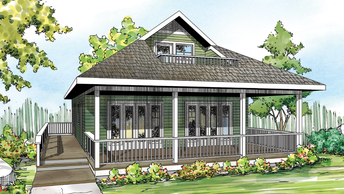 Lyndon 30-769 - Vacation Home Plan - Cabin Home