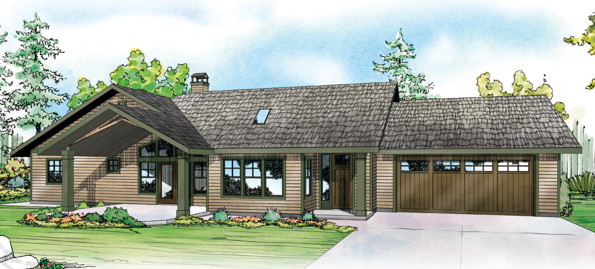 Elk Lake 30-849, Ranch House Plan, Traditional Home Plan