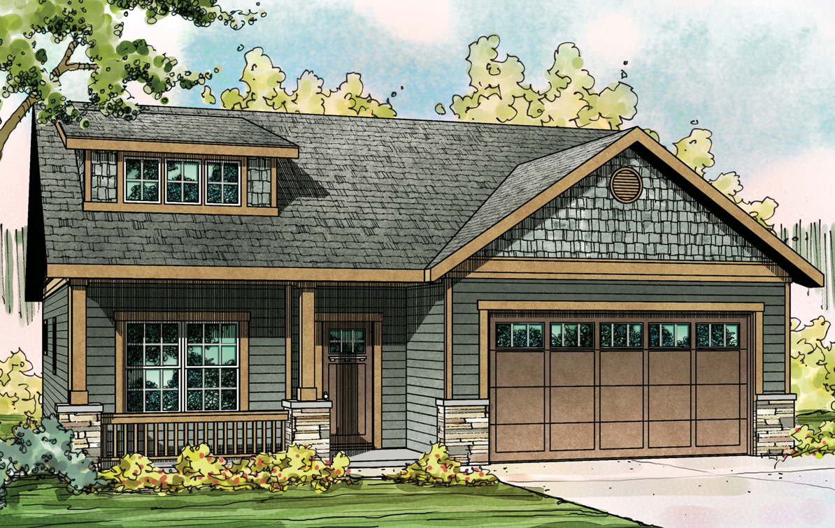 Cedar Ridge 30-855, Craftsman Home Plan