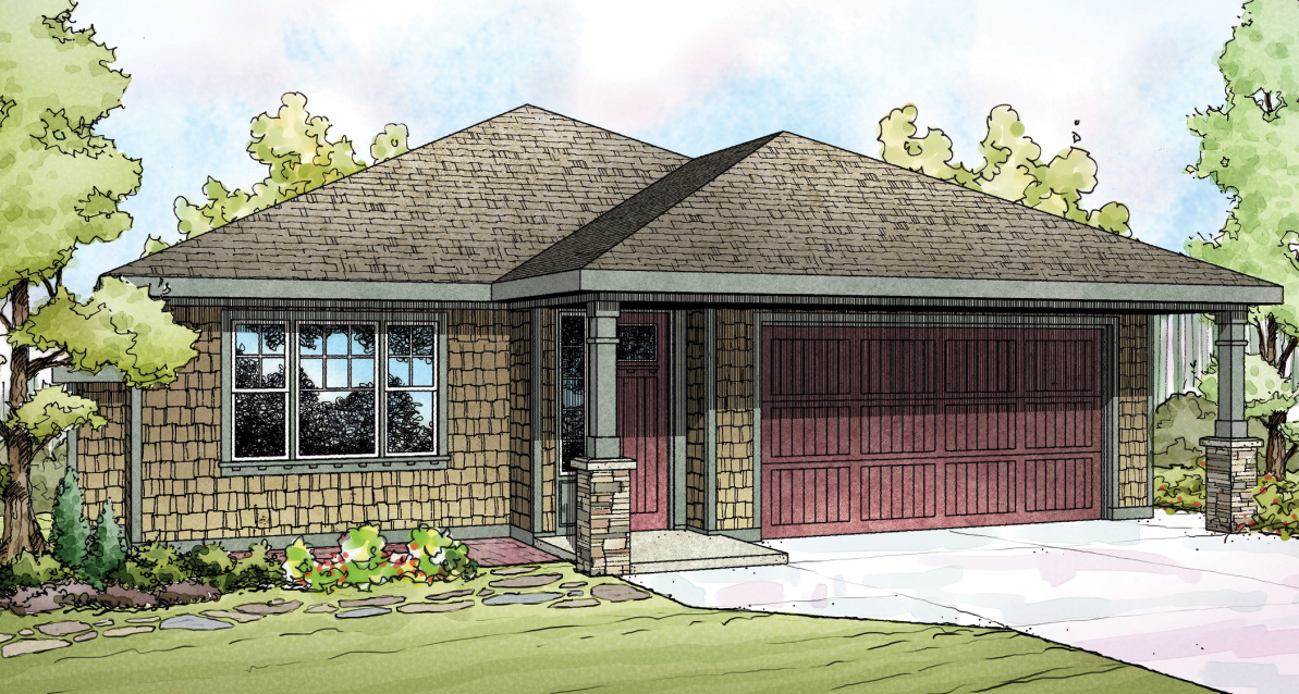 Pine Creek 30-885, Shingle-Style Home Plan