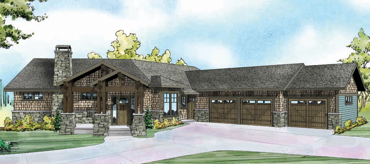 Northbrook 30-898, Shingle House Plan, Craftman Home Plan