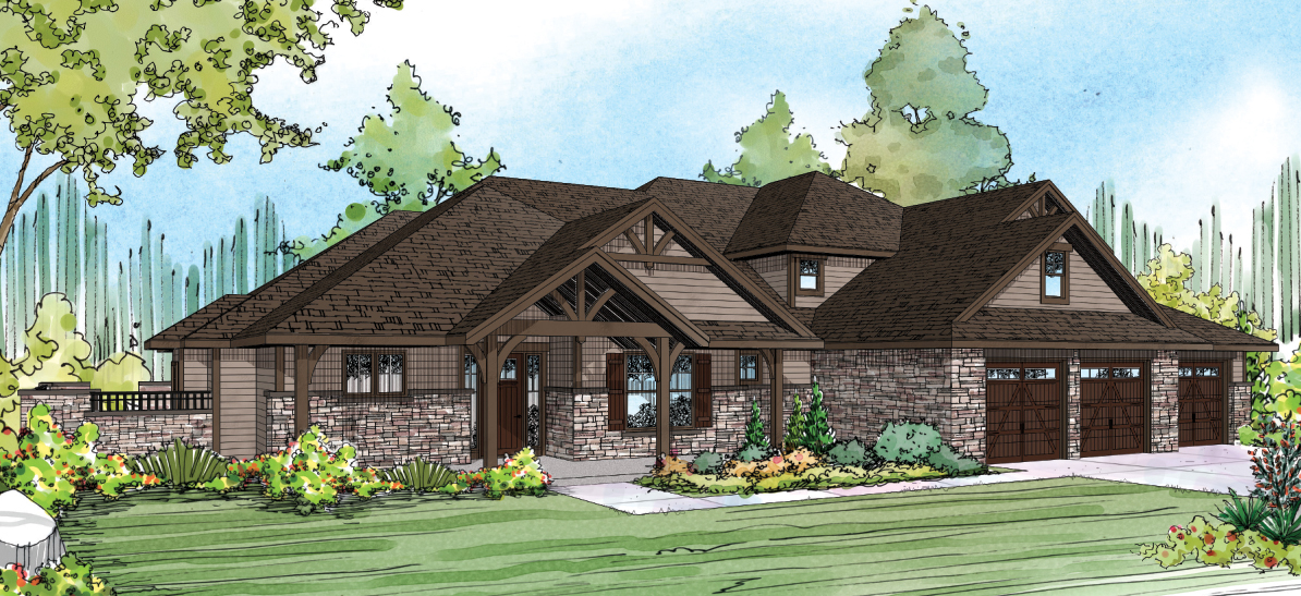 Cedar Creek 30-916, Craftsman Home Plan, Luxury House Plan