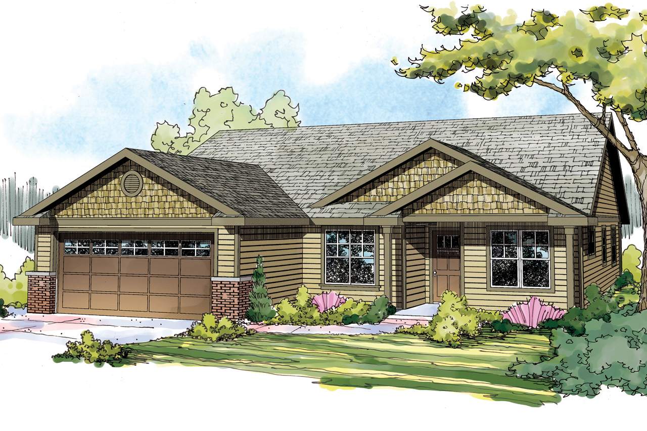 Pineville 30-937, Craftsman Home Plan, Ranch House Plan