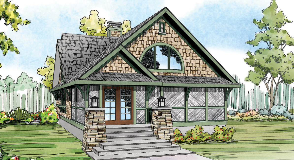 Glen Eden 50-017, Craftsman House Plan, Cabin Home Plan