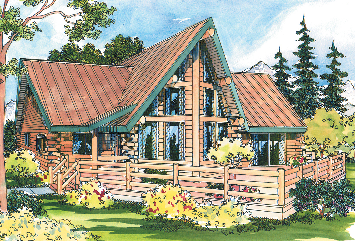 Altamont 30 012 a frame house plans log home for A frame log cabin floor plans