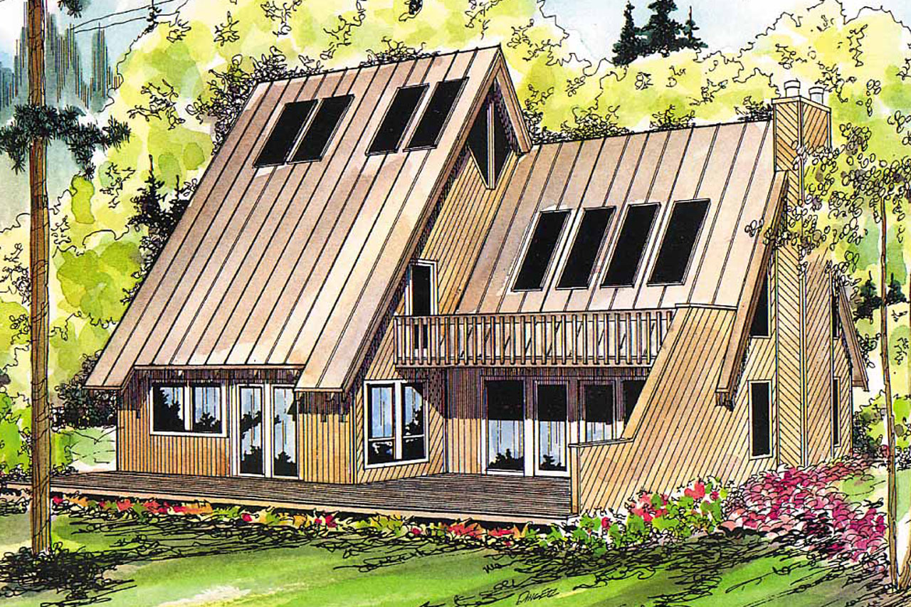 A frame house plans cascade 10 034 associated designs for Modified a frame cabin