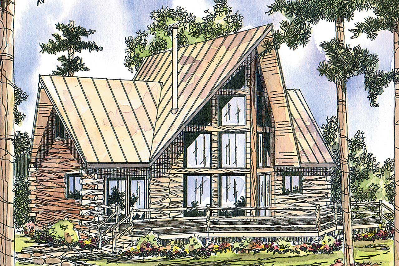 A-Frame House Plans - Chinook 30-011 - Associated Designs