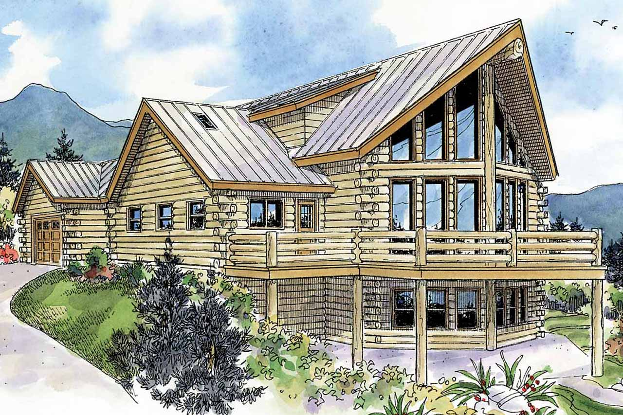 A Frame House Plan   Kodiak 30 697   Rear Elevation Part 88